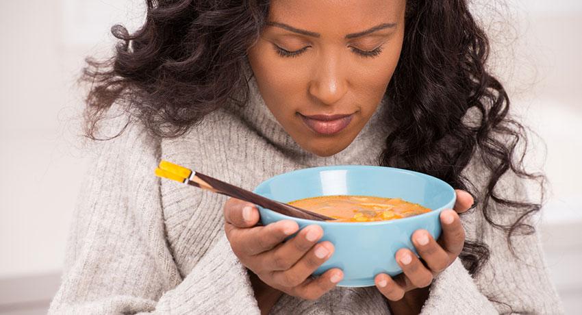 woman-enjoying-soup